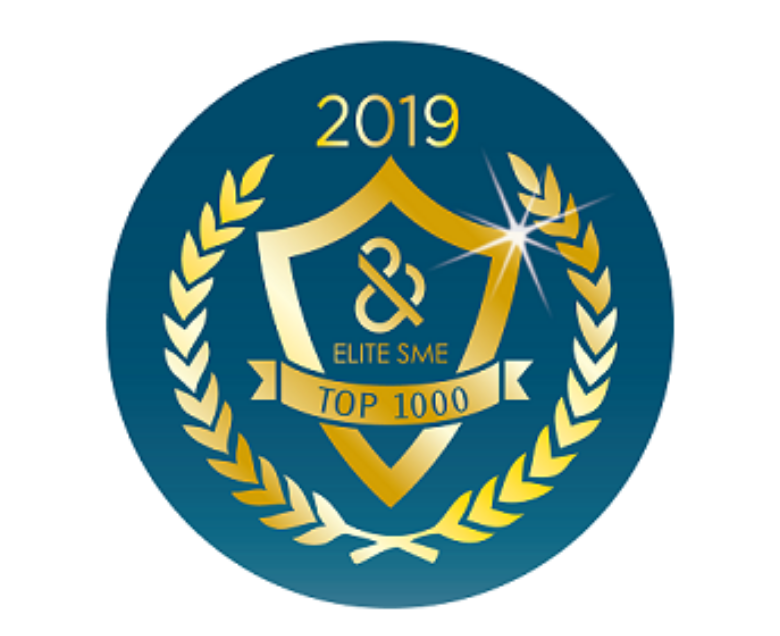 The Certificate of 2019 D&B TOP 1000 SMEs Elite Award